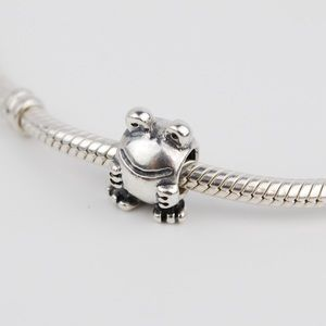 Authentic PANDORA Sterling Silver Frog Charm